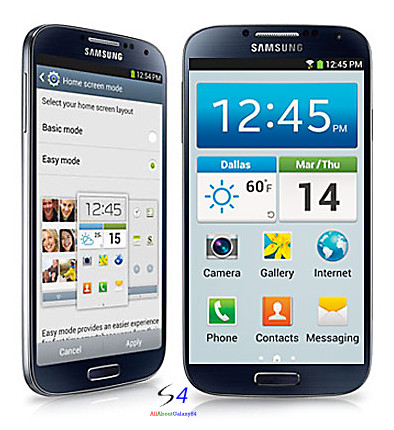 galaxy s4 easy mode